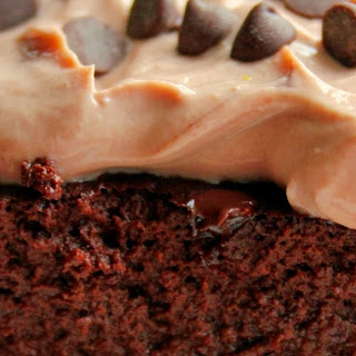 Single Serving Low Calorie Decadent Chocolate Cake With Chocolate Peanut Butter Greek Yogurt Frosting.