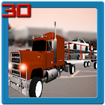 Car Transport Trailer 3D Icon