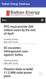 Balkan Energy Database - náhled