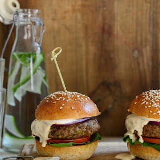 Beef Burgers with Mushrooms and Chipotle Mayo Recipe