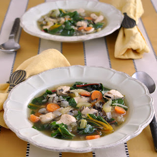 Chicken Soup with Wild Rice and Greens
