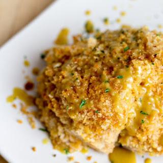 "Oven ""Fried"" Chicken with Honey Mustard Glaze."