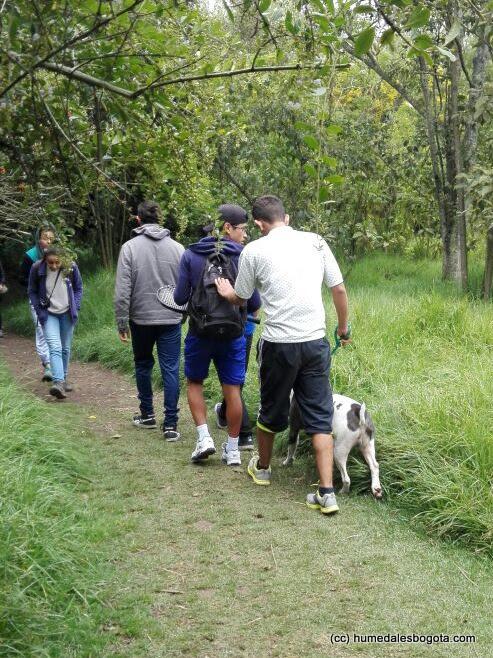 Grupo que ingresó por zona no permitida y con perro