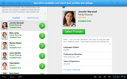 LiveHealth Online Mobile Screenshot