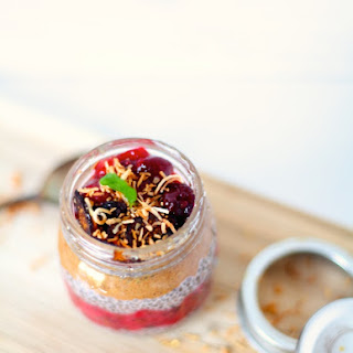 Layered Chia Pudding with Strawberry Fig Compote