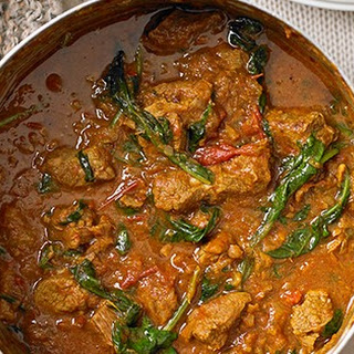 Lamb and Spinach Curry.