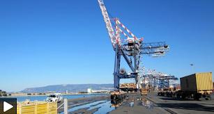 Hafenanlage. Bild aus Video.