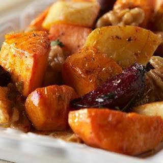 Roasted Vegetables with Walnut Vinaigrette.