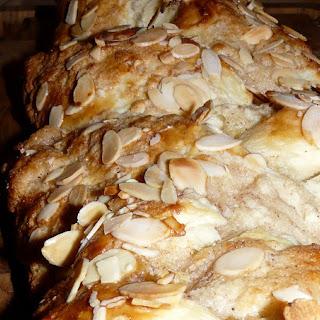 Danish Braided Bun with Almonds.