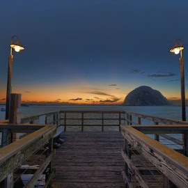 Morro Bay Impressions II by Michael Otter - Buildings & Architecture Bridges & Suspended Structures