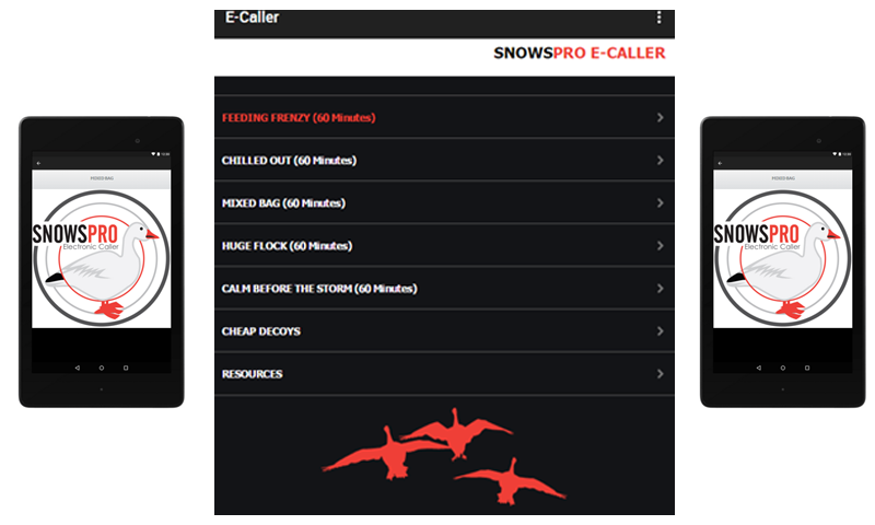 Snow Goose E Caller App- screenshot