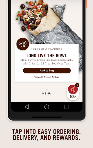 Screenshot for Chipotle in United States Play Store