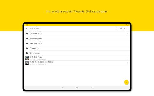 WEB.DE Online-Speicher  screenshots 7