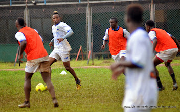 Photo: Sheriff Suma  [Training Camp ahead of Leone Stars v Seychelles Game in Freetown on 19 July 2014 (Pic: Darren McKinstry)]