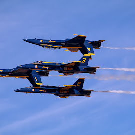 Blue angels patroll by Gérard CHATENET - Transportation Airplanes
