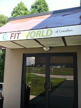 Photo: Fit World of Cranston, RI proudly displaying their BBB Accreditation