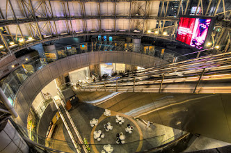 Photo: The elevator down into the shops and restaurants at Roppongi Hills