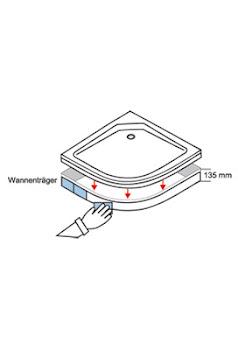 Styroporwannenträger für extra-flache, runde Duschwannen