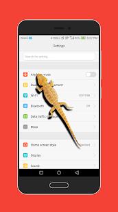 Lizard on Phone Screen Funny Joke - náhled