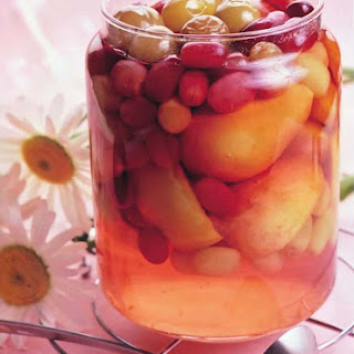 Pear, Cherry Plum And Red Bilberry Kompot