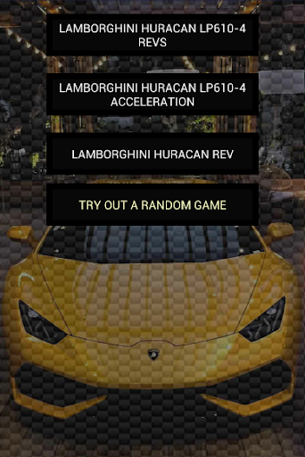 Engine sounds of Huracan