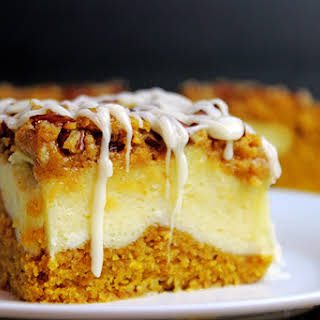 Cheesecake Filled Pumpkin Bread Bars.