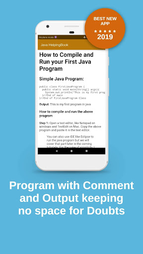 Java Helping Book (From Basic to Advance) App Report on Mobile