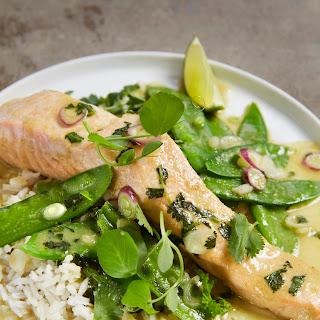 30-Minute Green Curry Braised Salmon.