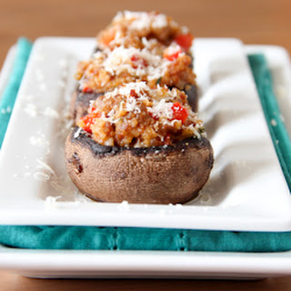 Sausage and Red Pepper Stuffed Mushrooms