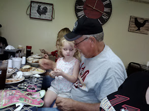 Photo: John had his daughter and grandchildren meet us there. Ain't she cute?