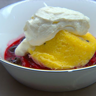 80 40 20 - Passionfruit Sponge with Marinated Berries and Whipped Cream