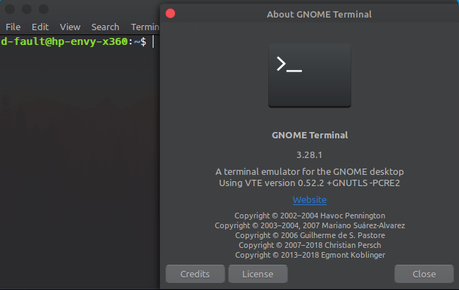 Linux Terminal Emulator (Gnome Terminal)
