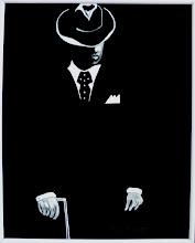 Photo: 401, Нетронина Наталья, Серия ОН и ОНА-Джентельмен, Масло, замша (живопись по бархату), 38х25см,