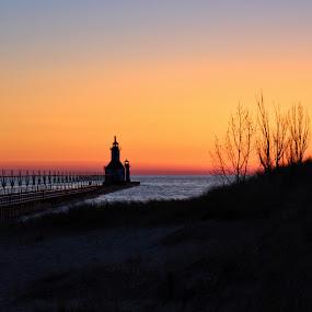 by Jennifer Smusz - Landscapes Sunsets & Sunrises ( #lakemichigan, #sunset, #puremichigan, #afterglow, #beach )