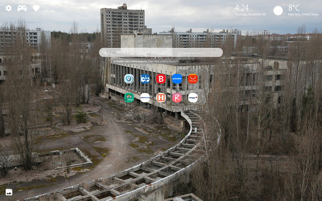 CHERNOBYL Aftermath Creepy Wallpaper New Tab