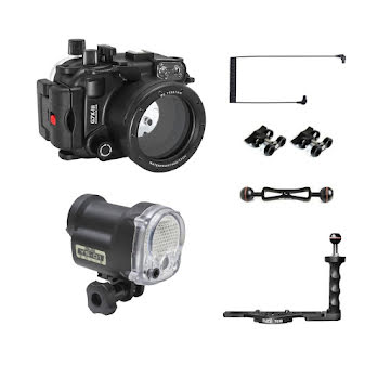 CANON G7X III SEAFROGS (UW HOUSING+STROBE+ARM+OPTICAL CABLE)