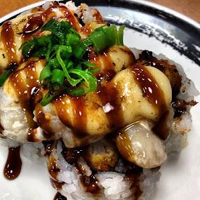 Scallop Dynamite Sushi by Nicolas Los Baños - Food & Drink Plated Food ( rice, cuisine, food, sushi, japanese, genki, asian )
