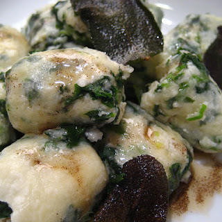 Spinach Malfatti With Sage Brown Butter Sauce
