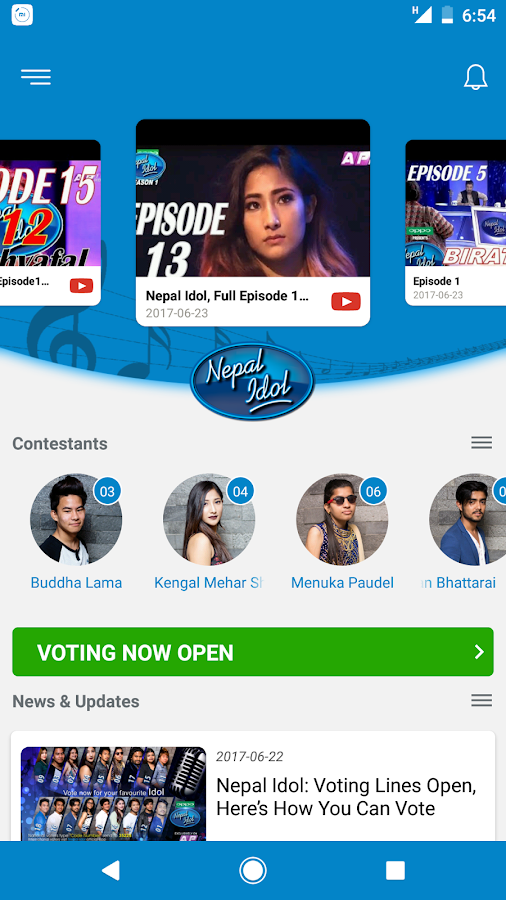 Nepal Idol Finale- screenshot