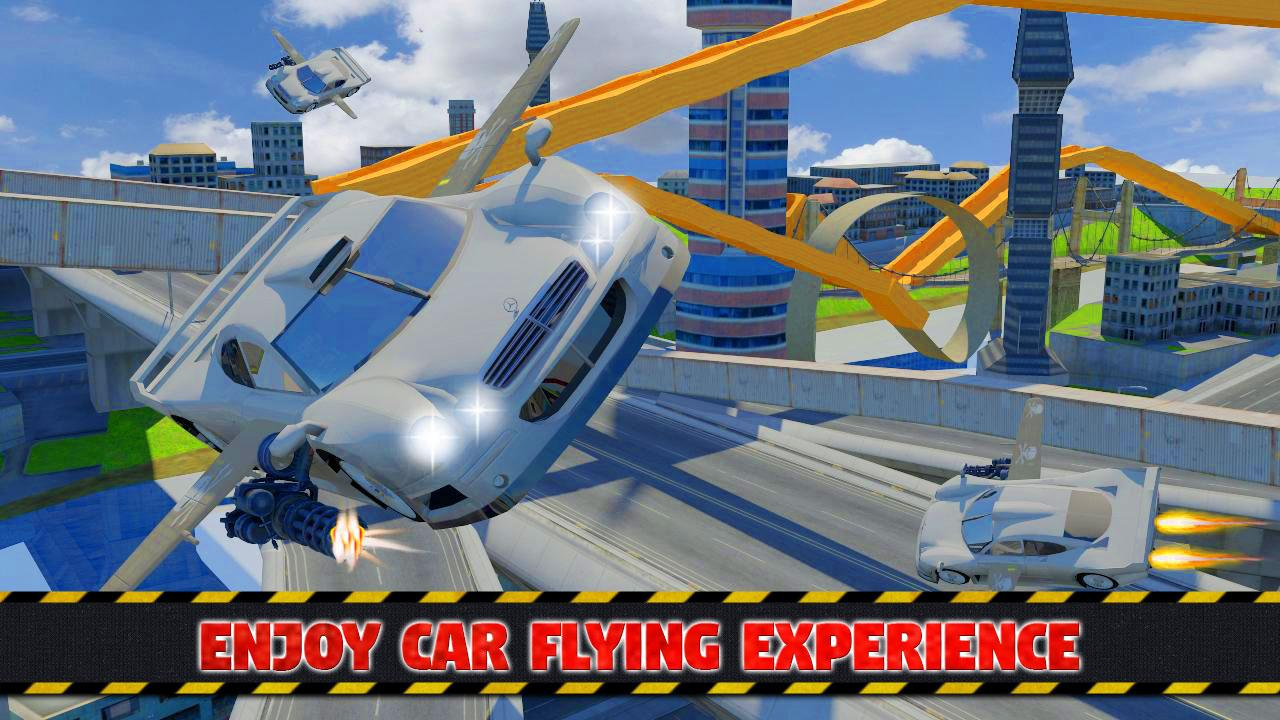 Futuristic Flying Car Ultimate - Aim and Fire- screenshot
