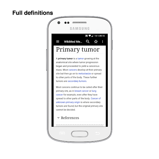 WikiMed mini - Offline Medical Wikipedia 2020-03 screenshots 1