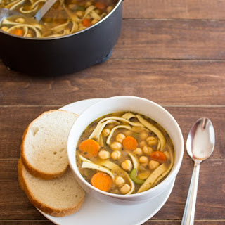 Easy Chickpea Noodle Soup Recipe