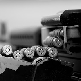 On watch by Mike Gonzales - News & Events World Events ( black & white, gun )