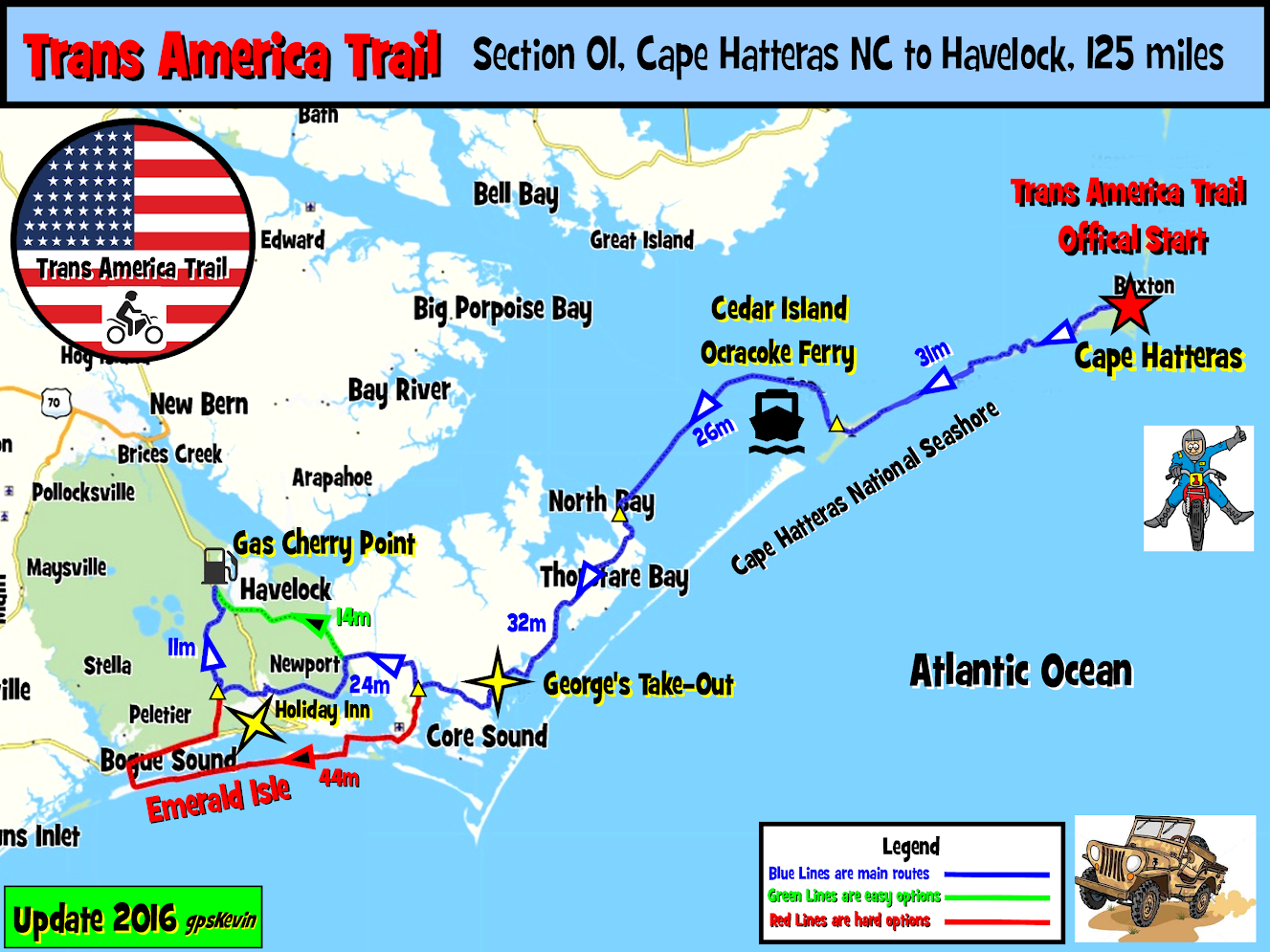 Tat Section 01 Cape Hatteras Nc To Stella Nc Gpskevin Adventure Rides