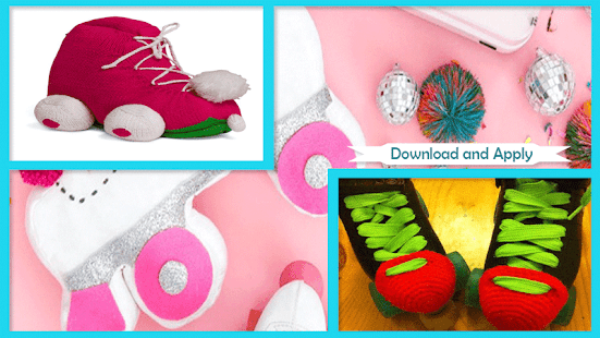 Adorable DIY Roller Skate Pillow - náhled