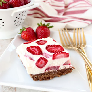 Frozen Strawberry Cheesecake Bars.