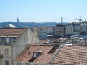 Photo: Lisbon's copy of the Golden Gate Bridge, a suspension bridge crossing the Tagus.