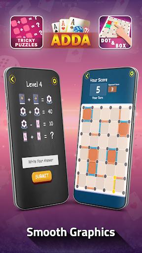 Adda : Rummy , Callbreak ,Solitaire & 29 Card Game modavailable screenshots 12