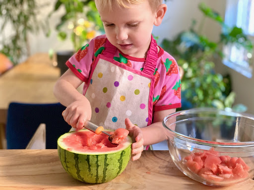 Three Healthy Snacks - for Children to make! 🍒🍓🍇🍎🍉