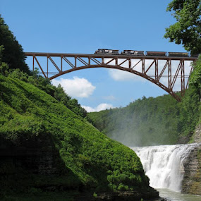 NEW TRESTLE by Anita Richley - Transportation Trains